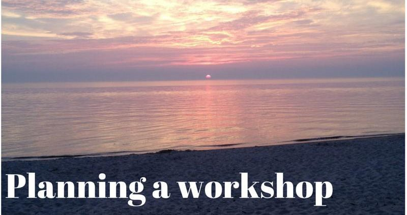how to plan a workshop