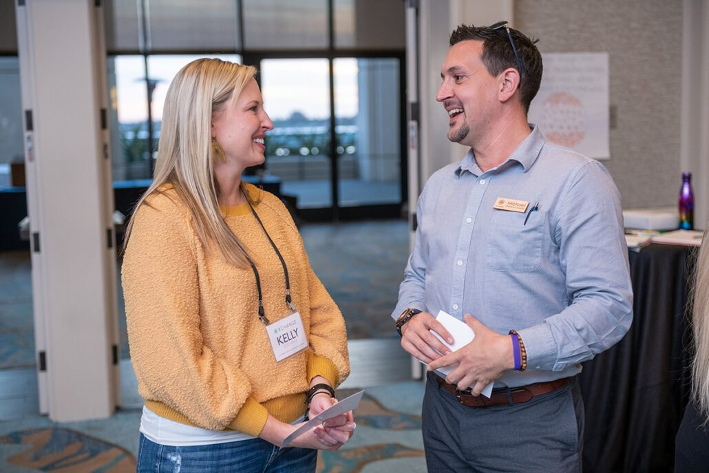 michael speaking with someone one on one